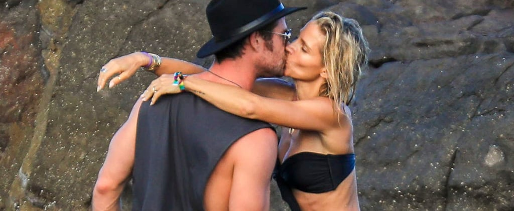 Chris Hemsworth and Elsa Pataky Kiss on the Beach April 2018