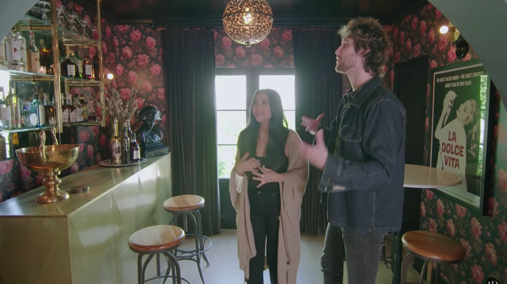 """Shay and Chad joked the bar area is her mom's """"favorite place to hang out"""" in the house."""