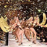 The Show Ended with a Glamorous Chorus Line Featuring Bananas!