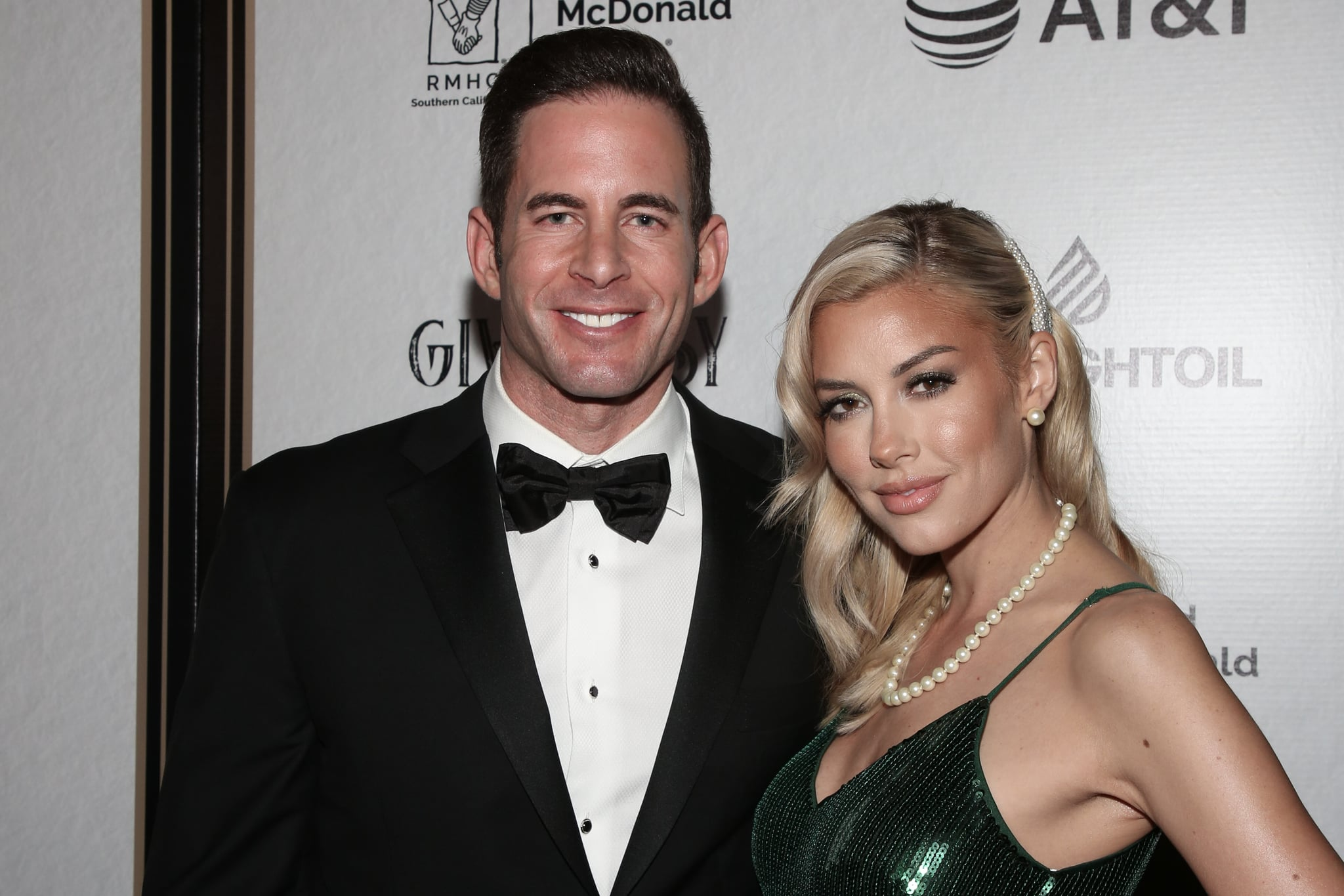 LOS ANGELES, CALIFORNIA - NOVEMBER 07: Reality TV Personalities Tarek El Moussa (L) and Heather Rae Young (R) attend the Give Easy event hosted by Ronald McDonald House Los Angeles at Avalon Hollywood on November 07, 2019 in Los Angeles, California. (Photo by Paul Archuleta/Getty Images)