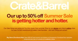 Sale Alert: Crate & Barrel Summer Sale