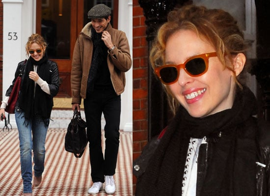 Photos of Kylie Minogue and Andres Velencoso