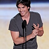 In July 2012, Ian Somerhalder took the stage at the Teen Choice Awards.