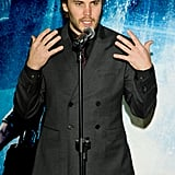 Taylor Kitsch spoke at the Seoul premiere of Battleship.