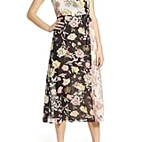 Leith Floral Mix Faux Wrap Dress