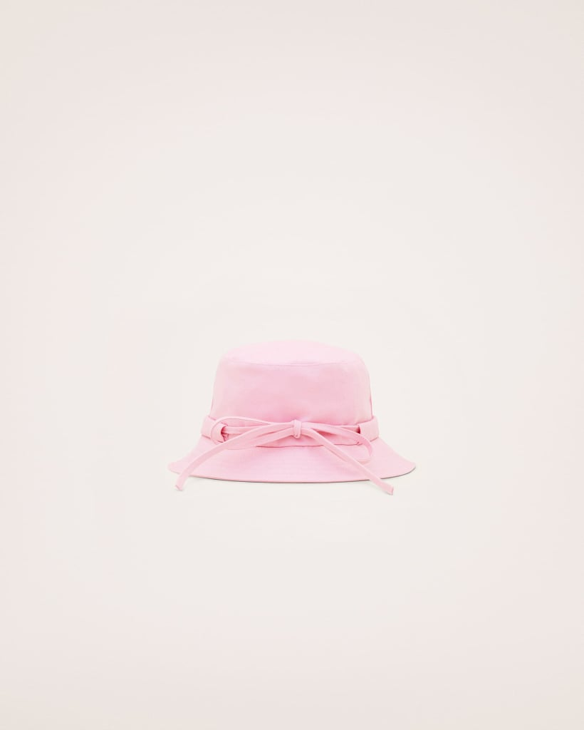 More Photos Of The Jacquemus Le Bob Gadjo Canvas Bucket Hat In Light Pink Jacquemus Le Bob Gadjo Bucket Hat Review Popsugar Fashion Australia Photo 3