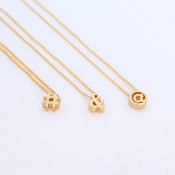 Punctuation Necklace