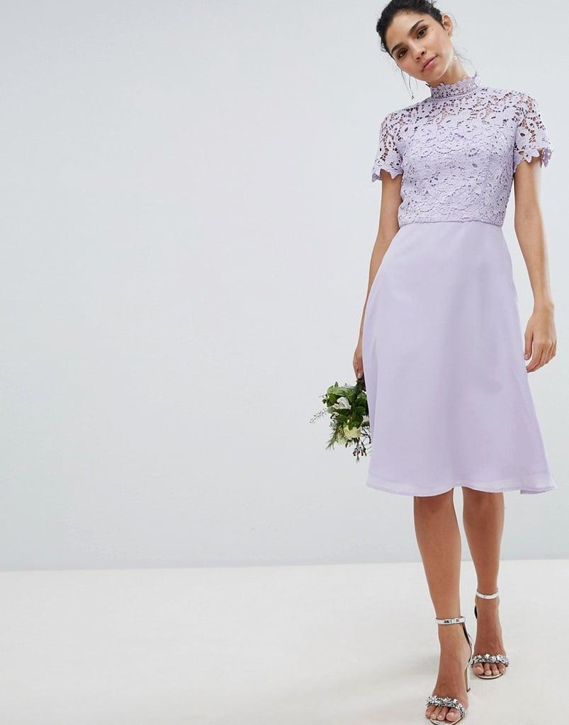 Chi Chi London Tall High Neck Midi Dress