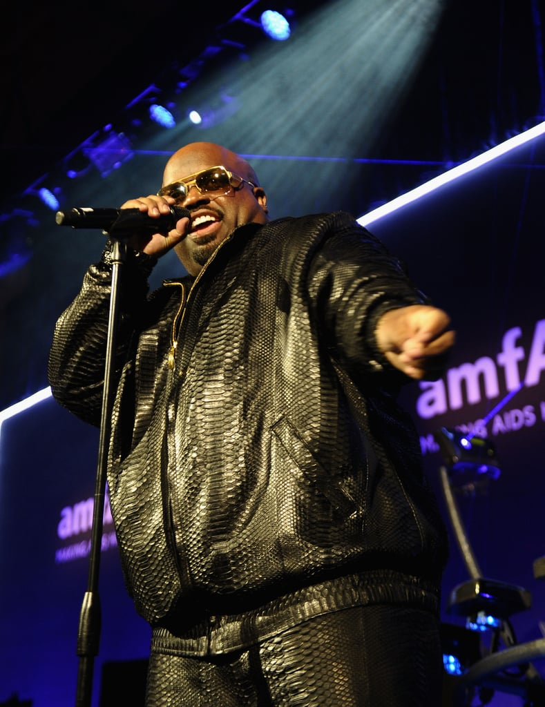Cee Lo performed at Wednesday night's amfAR New York Gala.