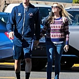 Reese Witherspoon and Jim Toth walked hand in hand in LA on Saturday.