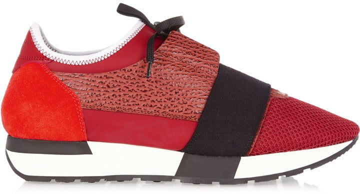 Balenciaga Suede and Leather-Paneled Mesh and Neoprene Sneakers ($695)