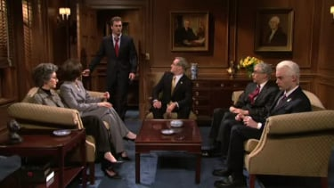 Jon Hamm as Massachusetts Senator Scott Brown on SNL