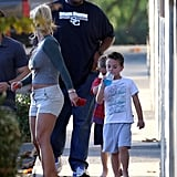 Britney Spears Debuts New Bangs While Out With Her Boys