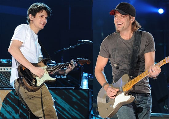 Pictures of John Mayer and Keith Urban Practicing Before the CMT Awards