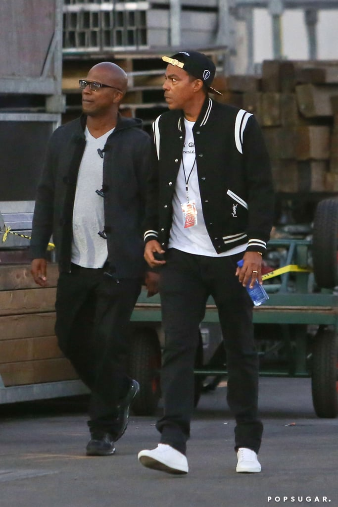 Chris Ivery arrived at the Rose Bowl for Jay Z and Justin Timberlake's Legends of the Summer show.