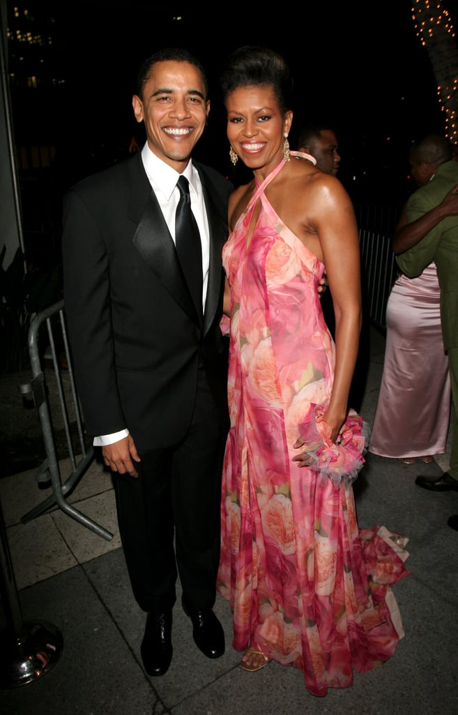 Even before she was the first lady, Michelle knew how to wear bright and bold colors perfectly. She and the then-senator attended the 36th annual NAACP Image Awards in 2005.