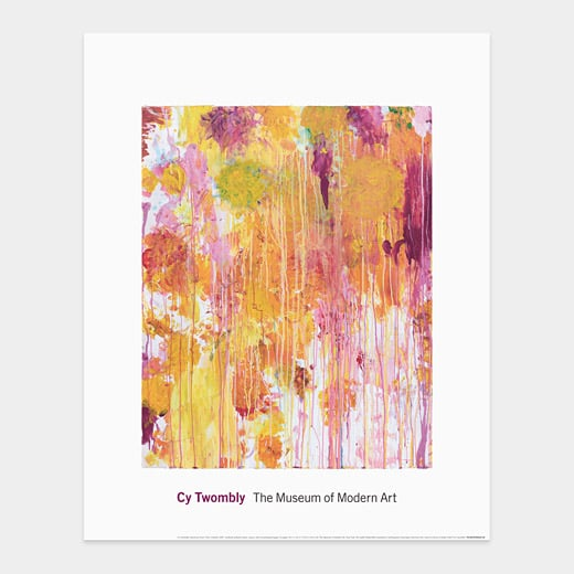 The MoMA store features a range of gorgeous prints. We love the modern simplicity of this Cy Twombly: Untitled Print ($26).