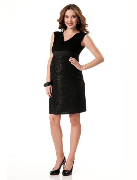Motherhood Loved by Heidi Klum Drape Front Dress ($40)