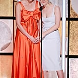 Greta and Saoirse presented hand in hand on stage at the ARP's 17th annual Movies For Grownups Awards on Feb. 5.