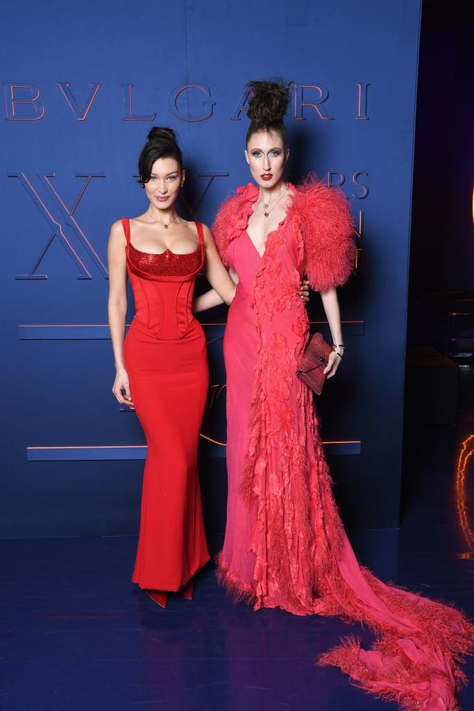 Bella Hadid Red Versace Dress February 2019