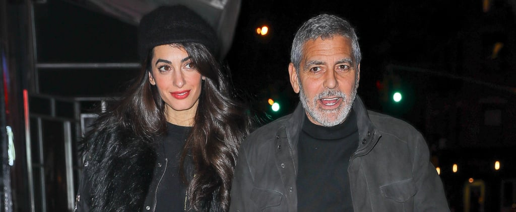 George and Amal Clooney Holding Hands in NYC April 2018