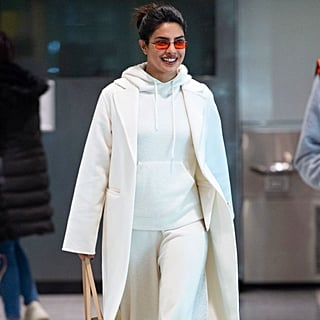 Priyanka Chopra's White Sweatpants at the Airport 2019