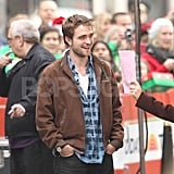Robert Pattinson laughed on the set of The Today Show.