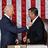 Vice President Biden fixed Speaker Boehner's tie.