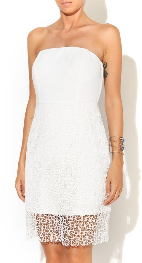 ARNY K Strapless White Dress