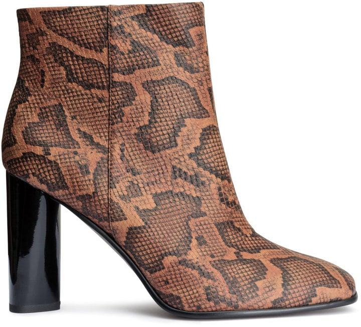 H&M Snakeskin Pattern Boots ($50)