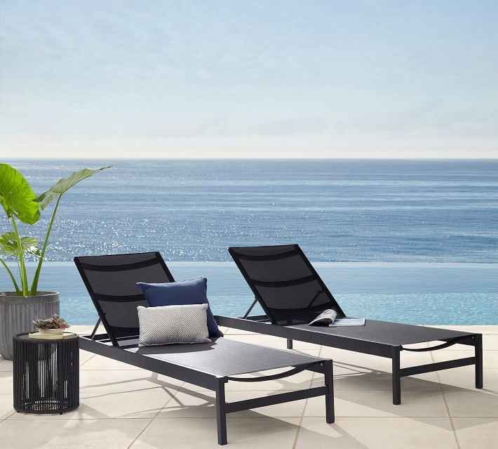 Pottery Barn Fiji Mesh Stackable Chaise Lounge Set