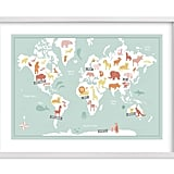 Our Minted Pick: Animal World Map (from $185 framed)