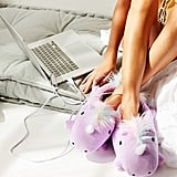 Smoko Unicorn USB Heat-Up Slippers
