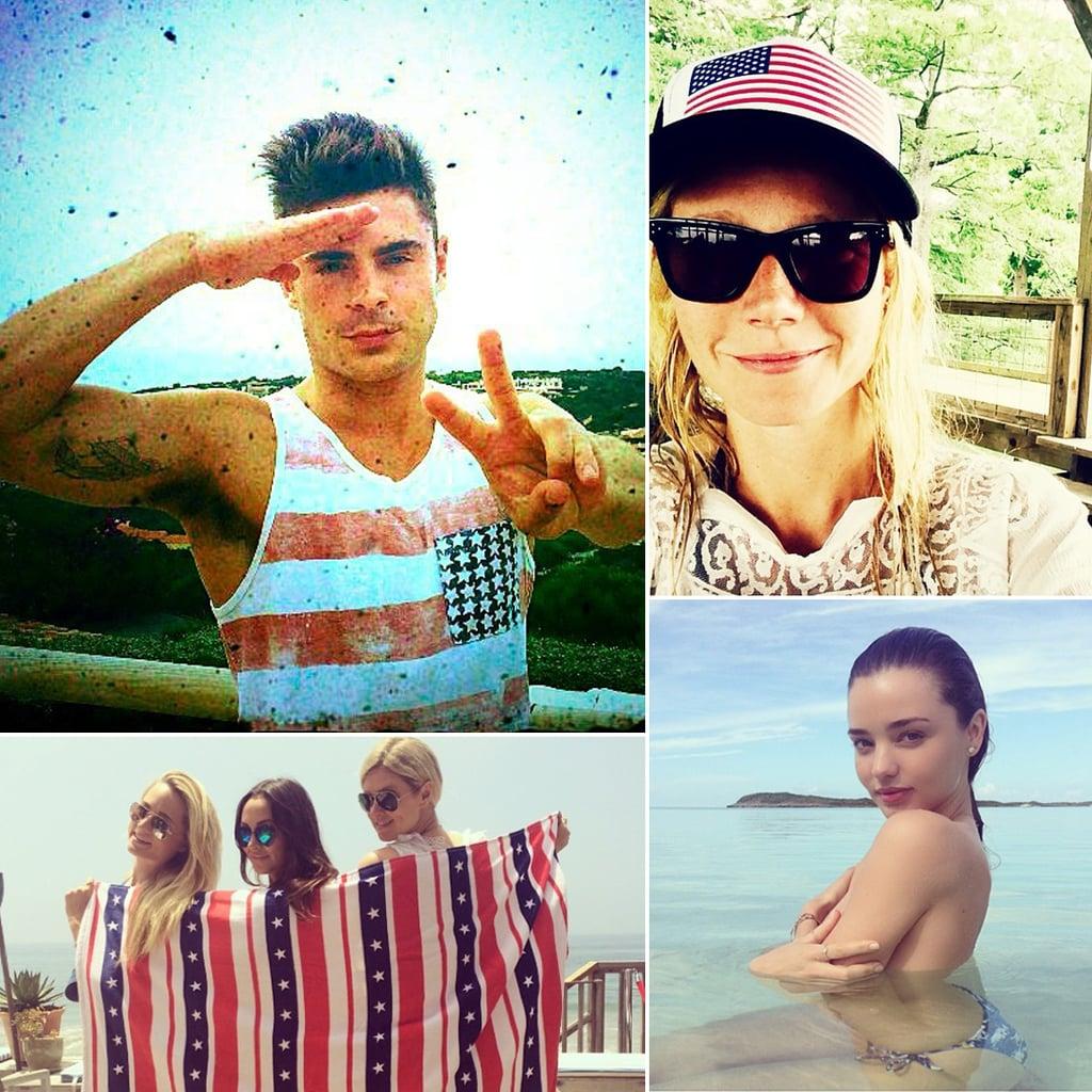 Stars Show Their Fourth of July Spirit on Social Media!