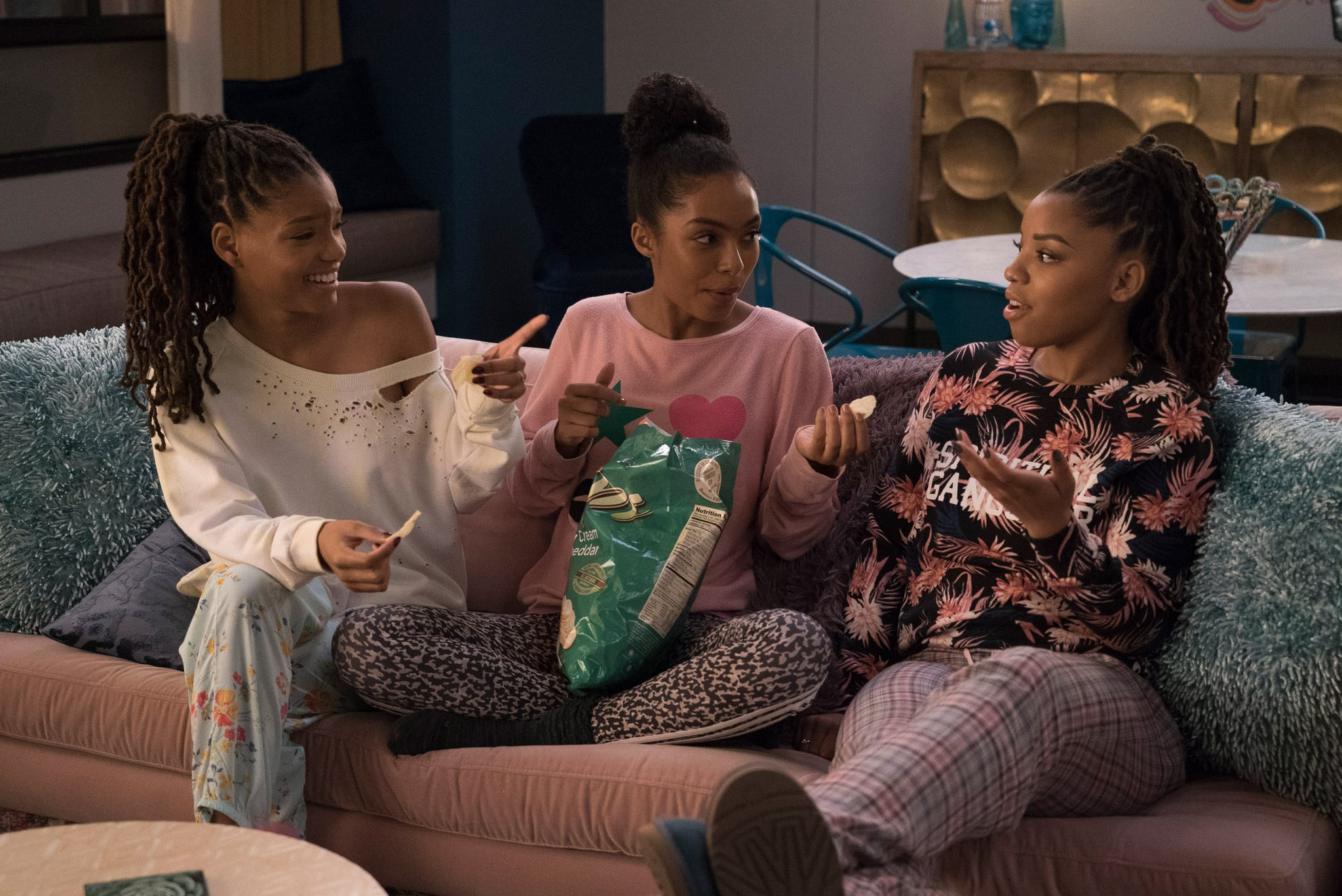 GROWN-ISH, Halle Bailey, Yara Shahidi, Chloe Bailey in 'Better', (Season 2, Episode 202, aired January 2, 2019), ph: Tony Rivetti / Freeform / courtesy Everett Collection