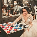 Couple's Engagement and Wedding Photos at Cracker Barrel