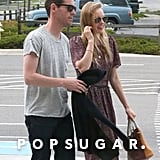 Kate Bosworth smiled while walking with Michael Polish.