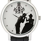 Cinderella and Prince Black Silicone Strap Watch