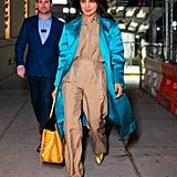 Priyanka Chopra Wearing Snake-Print Aldo Pumps in NYC