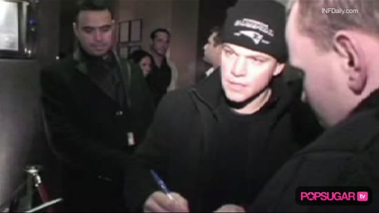 Video of Matt Damon in London