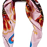 Mary Katrantzou Printed Silk-Twill Scarf ($180)