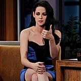 Kristen Stewart filmed an episode of The Tonight Show.