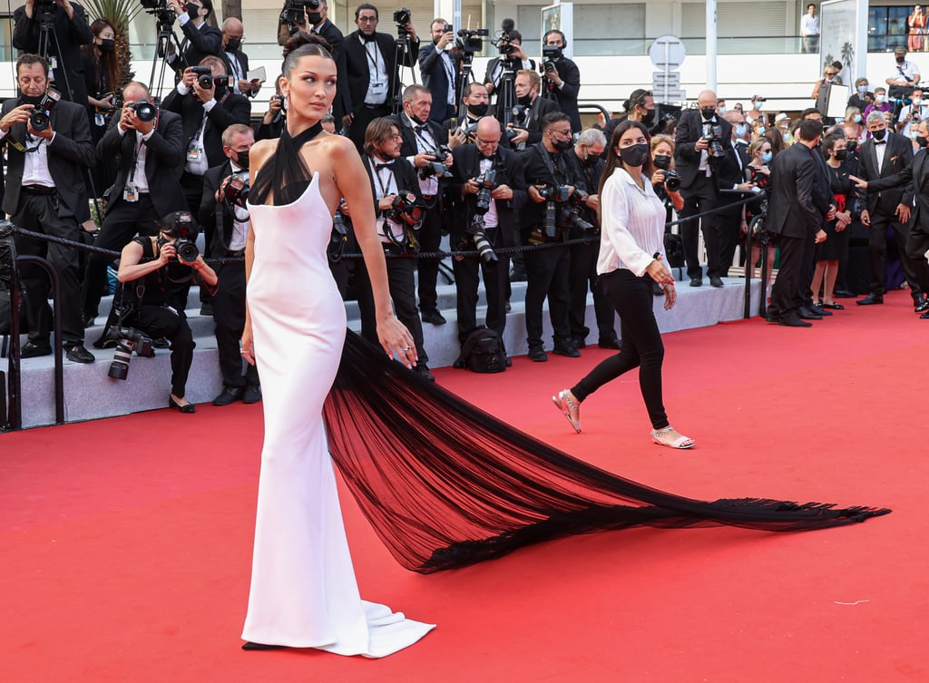 See Bella Hadid's White Jean Paul Gaultier Dress at Cannes
