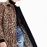 J.Crew Double Leopard Topcoat