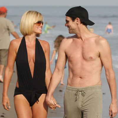 Jim Carrey and Jenny McCarthy in Malibu