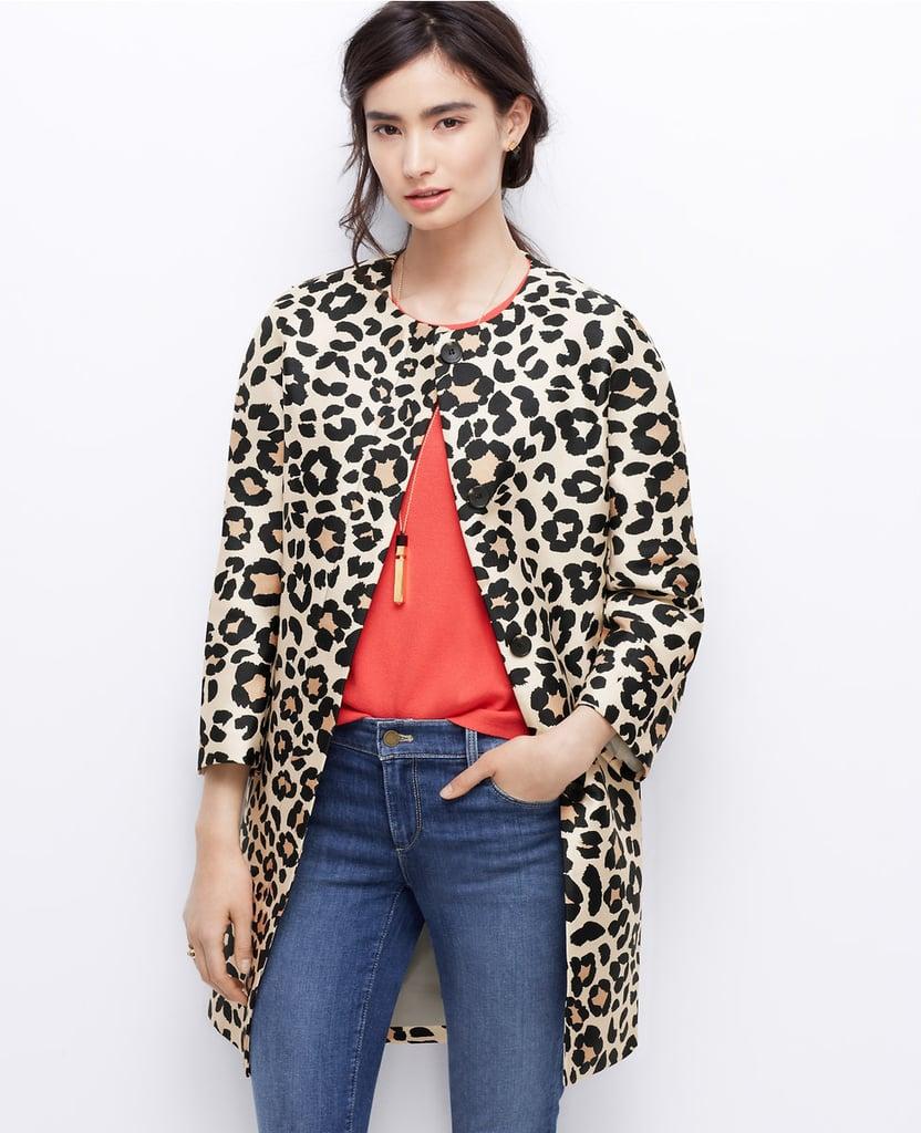 Ann Taylor Leopard Coat