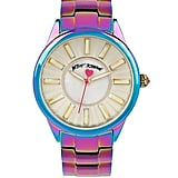 Betsey Johnson Iridescent Stainless Steel Watch ($135)