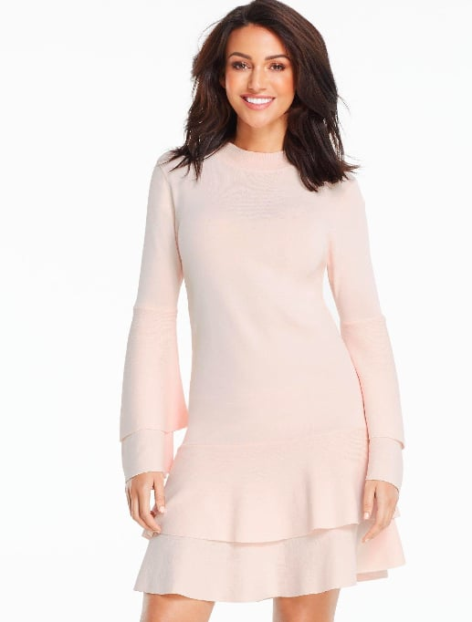 Michelle Keegan Fluted Sleeve and Hem Compact Knitted ...