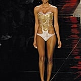 Suiting up for the Rosa Cha runway at Olympus Fashion Week in '06.