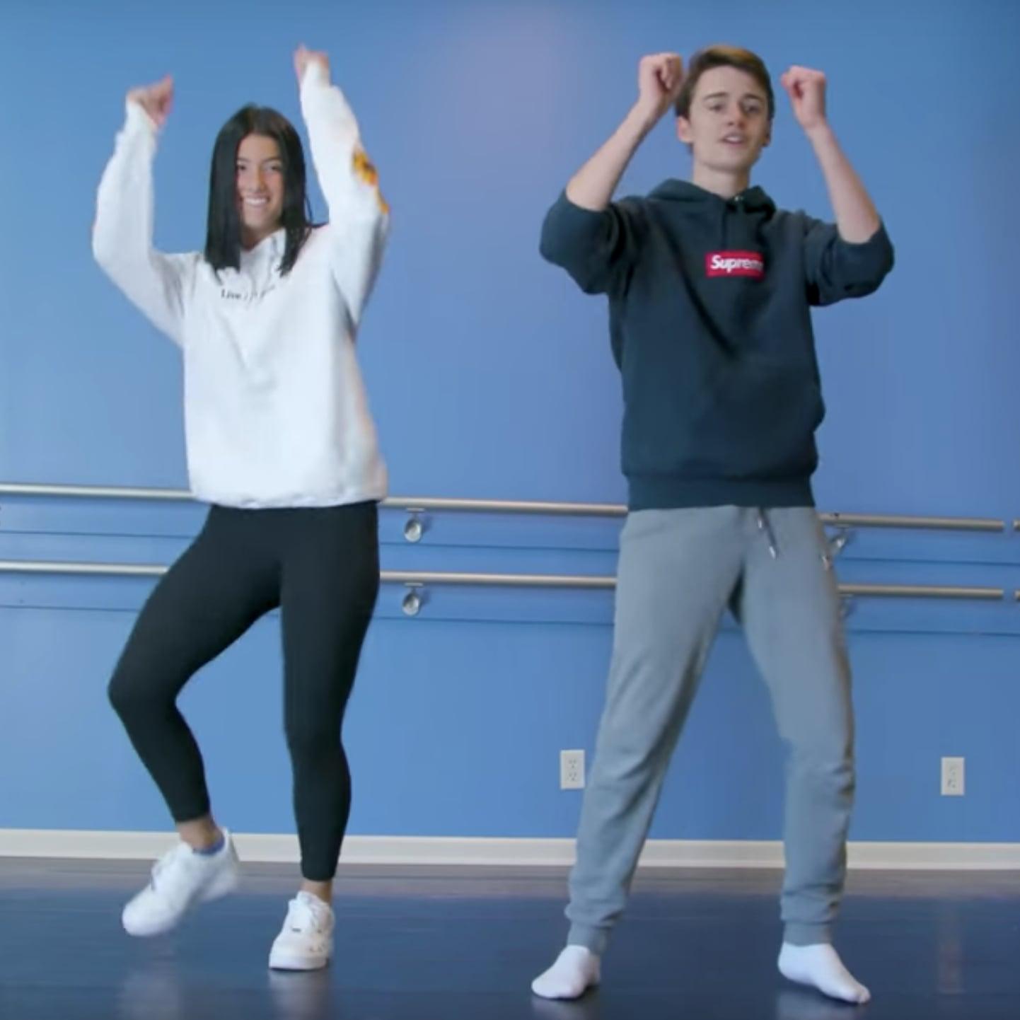 Charli D Amelio Teaches Noah Schnapp Tiktok Dances Video Popsugar Celebrity